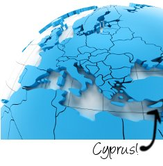 Cyprus on map