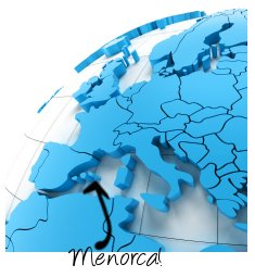 Menorca on map