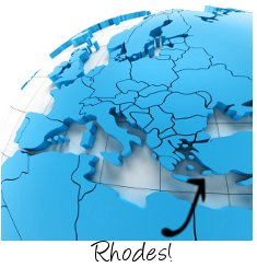 Rhodes on map